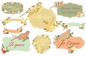 Romantic Frames & Banners