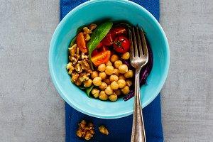Vegan energy boosting buddha bowl