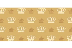 Crown - seamless pattern