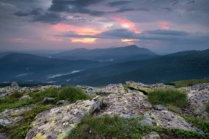 Natural mountain landscape