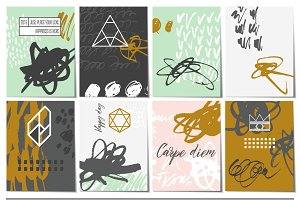 Creative Card Set + Vector Elements
