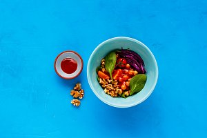 Vegan energy boosting buddha bowl