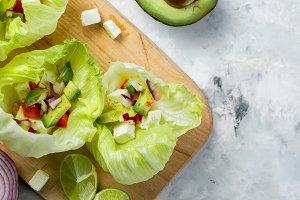 Low carb taco alternative - shell-less taco