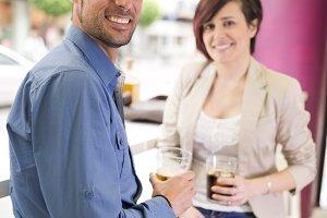 Date in bar