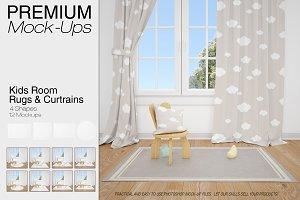 Nursery Rugs & Curtains Mockup Set