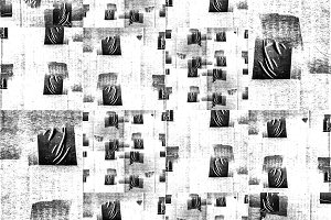 Black and White Patchwork Grunge