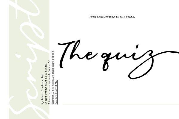 Fonts: Siwox Studios - The Quiz Script