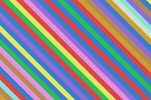 Diagonal colorful striped lines. Rainbow pattern background. 3d illustration