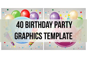 40 graphic birthday party templates