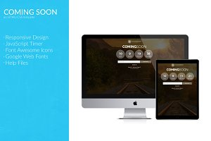 Coming Soon (HTML/CSS TEMPLATE)