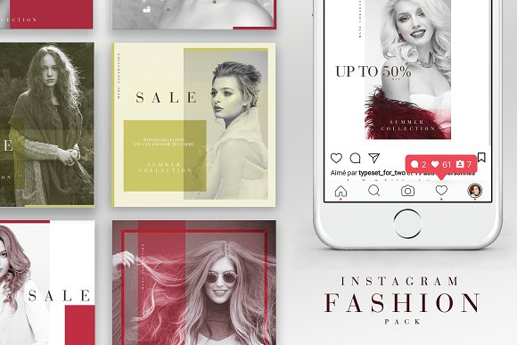 Instagram Fashion Pack in Instagram Templates
