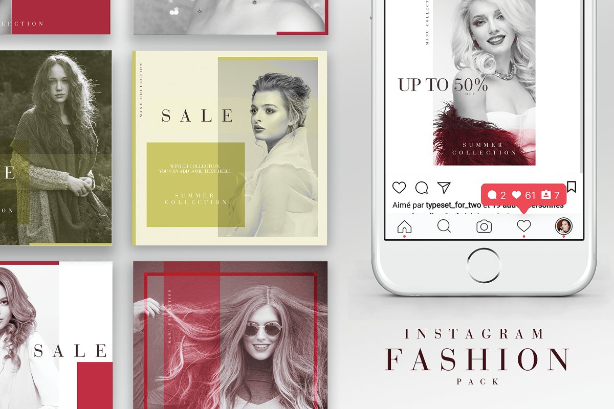 Instagram Fashion Pack in Instagram Templates - product preview 8
