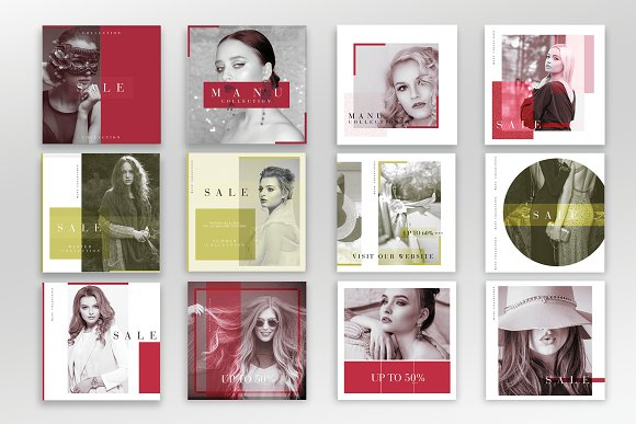 Instagram Fashion Pack in Instagram Templates - product preview 1