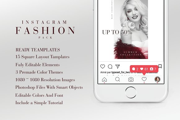 Instagram Fashion Pack in Instagram Templates - product preview 3