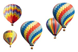 A Colorful Set of Hot Air Balloons