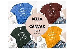 Bella Canvas 3001 Mockup Bundle V30