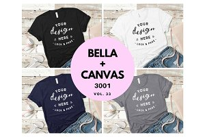 Bella Canvas 3001 Mockup Bundle V33