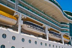 Side of Luxury Cruise Ship