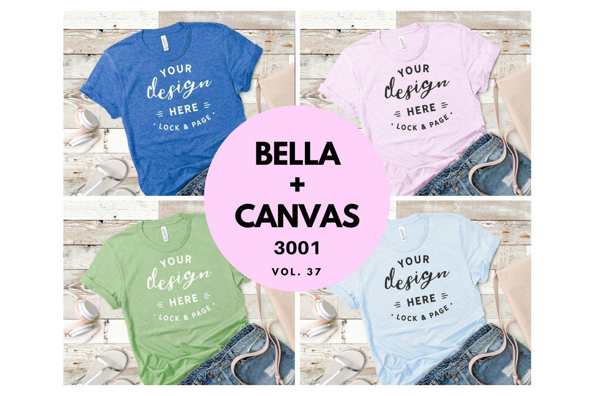 Bundle Tshirt Mockup Bella Canvas 37 Product Mockups Creative