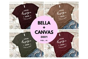 Bella Canvas TShirt Mockup Bundle 41