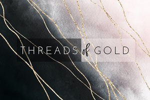 Watercolor Texture Threads of Gold