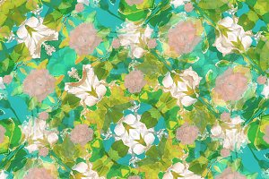 Vintage Floral Collage Seamless Pattern