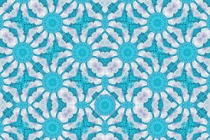 Stylized Floral Seamless Check Pattern