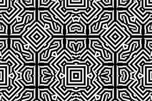 Sharp Geometric Arabesque Seamless Pattern