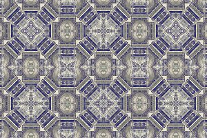 Old Style Fancy Ornate Seamless Mosaic