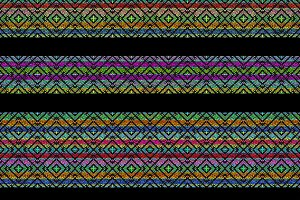 Multicolored Ethnic Stripe Seamless Pattern