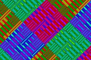 Multicolor Striped Geometric Pattern