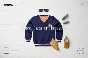 Boys Sweater Mockup Set