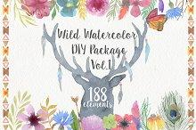 Wild Watercolor DIY