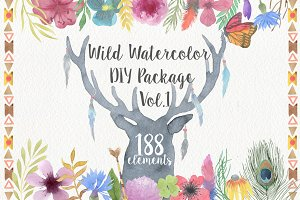 Wild Watercolor DIY