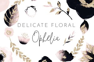 Watercolor Floral - Ophelia