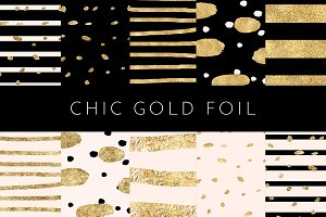 Chic Gold Foil - Black Blush & Gold