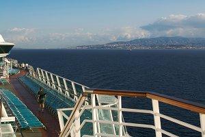 Cruise Ship Deck Abstract