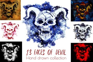Evil demon gothic collection