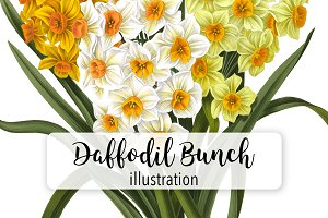 Florals: Vintage Daffodil Bunch