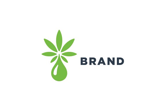 Marijuana Drops Logo Logo Templates Creative Market