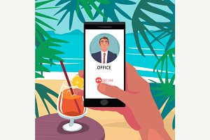 Reject call from boss in vacation