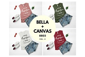Bella Canvas 8803 Tank Top Mockups 4