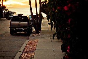 Sunset Sidewalk