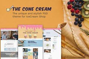 The Cone Cream PSD