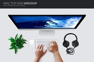 iMac Top View Mockup