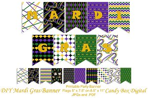 Mardi Gras Printable Party Banner