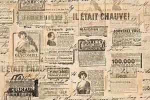 Paper texture Newspaper strips