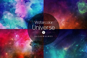 Watercolor Universe Backgrounds