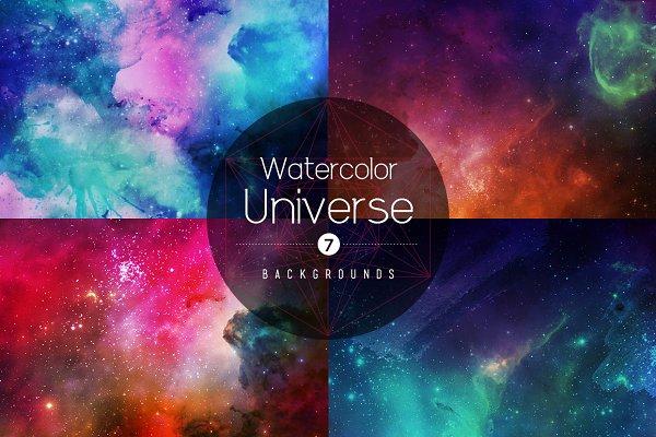 Watercolor Universe Backgrounds