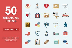 Medical & Health Flat Icons Set